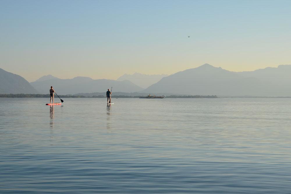 Mit dem SUP auf dem See